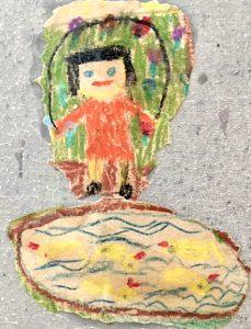 Ein Seilspringendes Mädchen Kinderbild